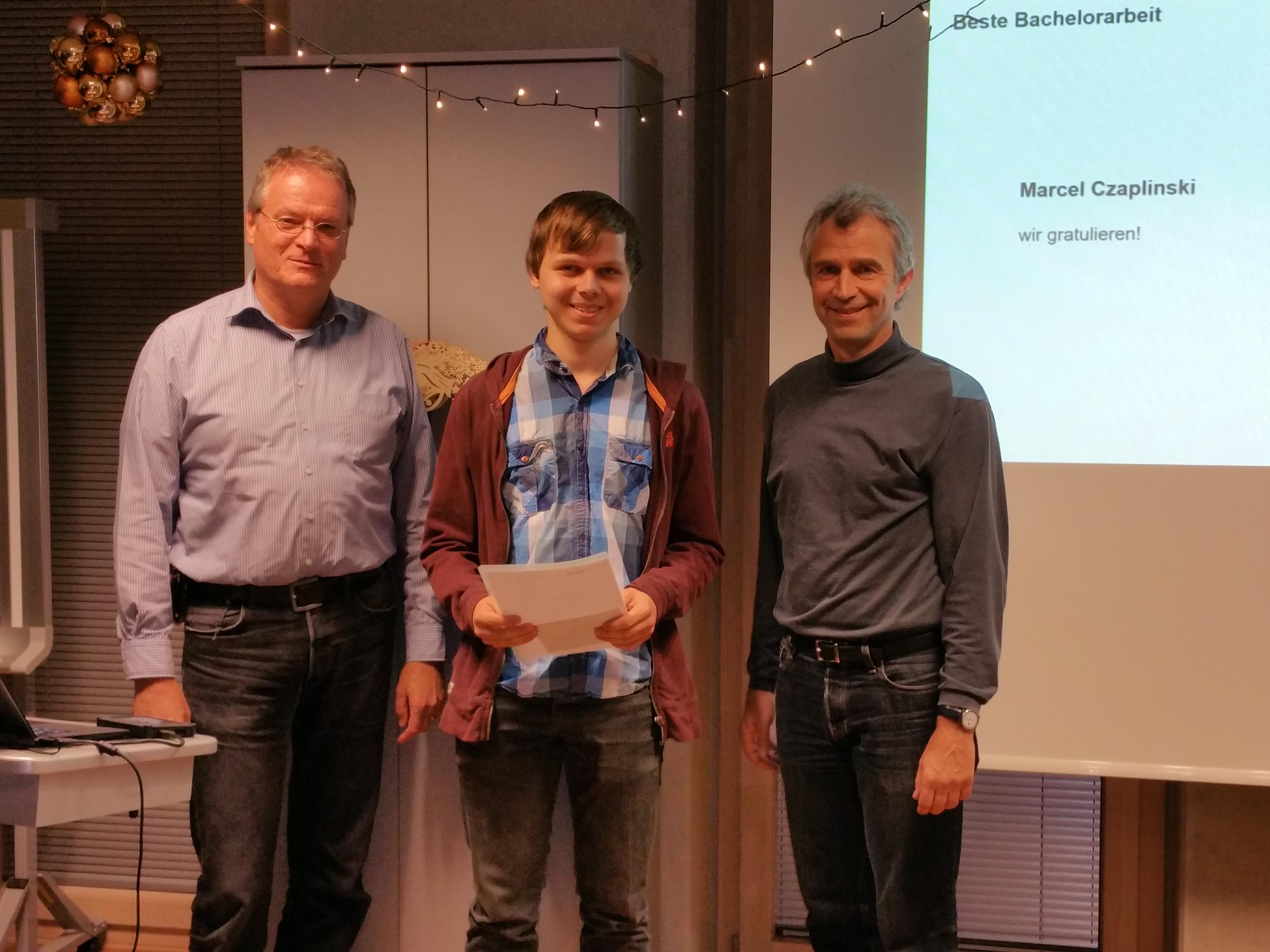Preisträger beste Bachelorarbeit Marcel Czaplinski