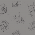 Example drawings made by test subjects based on perceived acoustic spaces.
