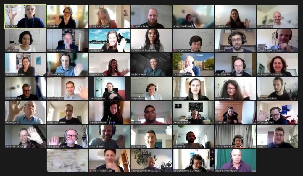 Group picture of the AUDICTIVE participants - Zoom
