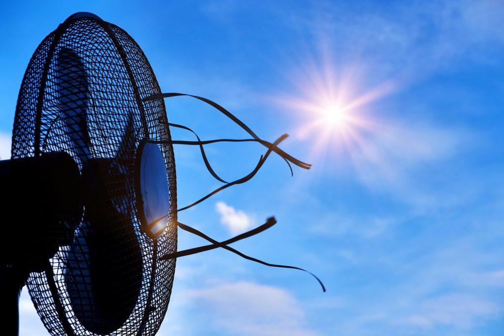 Ventilatoren als Maßnahme bei Hitze im Büro. Das IT Center schaltet auf Durchzug