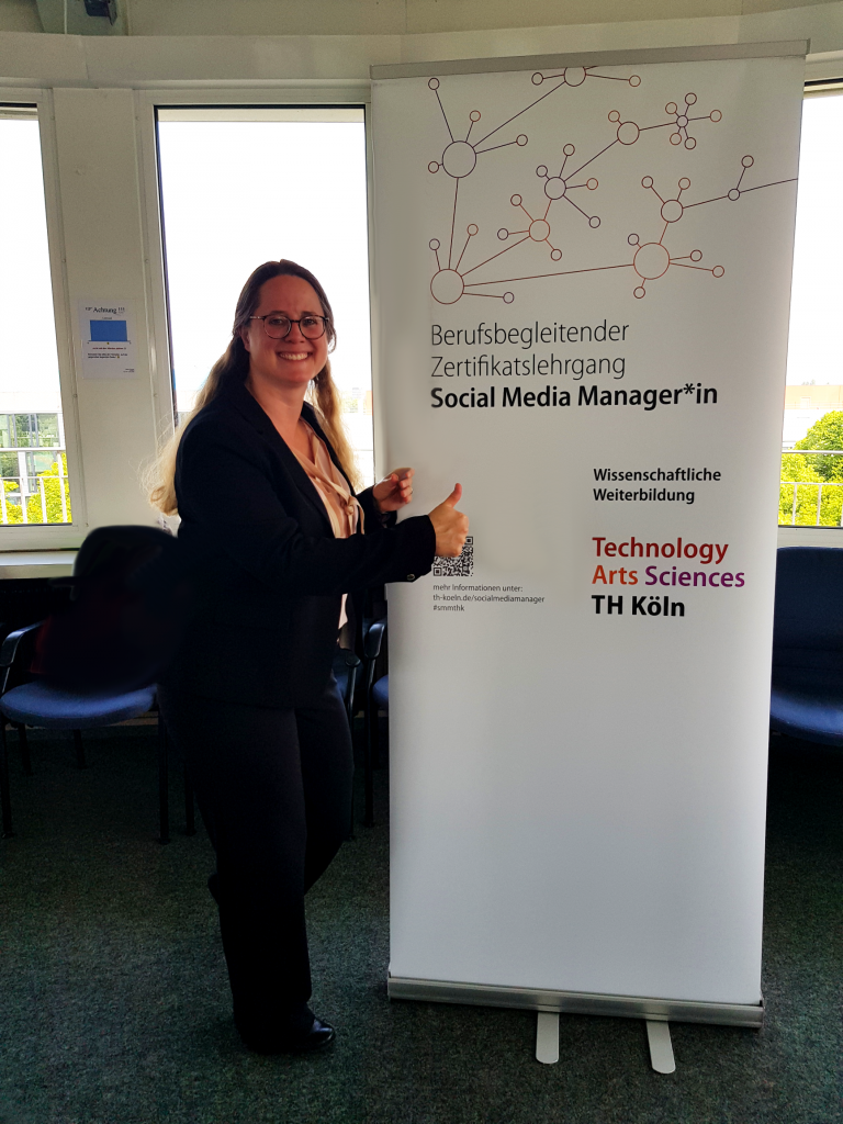 Frau Grzemski hat sehr erfolgreich an der berufsbegleitenden Weiterbildung zur Social Media Managerin teilgenommen.