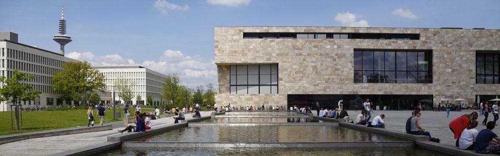 Der Campus Westend der Goethe-Universität Frankfurt am Main.  Quelle: https://www.uni-frankfurt.de/38074686/Campus_Westend