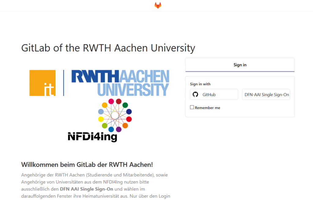 GitLab at the RWTH? No problem. With two instances and in compliance with the license terms, you can create versioned software projects. (https://git.rwth-aachen.de)
