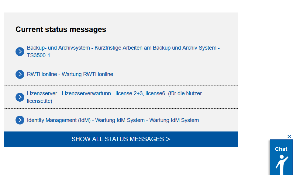 Direct access from status messages and frequently requested instructions is now also available on the IT Center Help homepage.