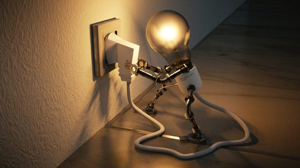 Light bulb at the socket