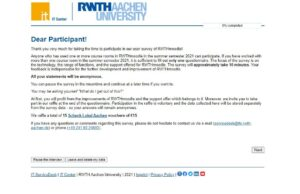 Screenshot RWTHmoodle user survey
