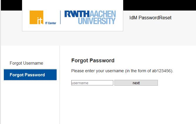 Forgot password - old design