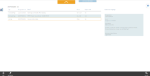 Screenshot of the overview of all requests with status