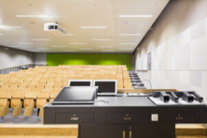 Lecture hall with technology