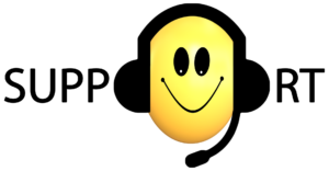 """Symbolic picture: Lettering """"SUPPORT"""" with a smiling smiley face full of the O"""