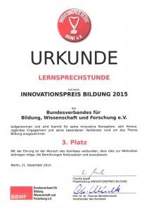 Innovationspreis Bildung 2015