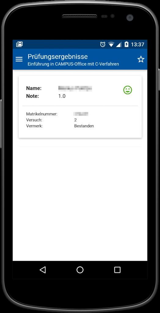 RWTHApp Screenshot Prüfungsergebnisse