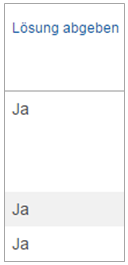 Screenshot Status Übungslösungen