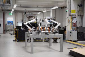 Rendering des parallelkinematischen Aufbaus in den Laboren des IGMR