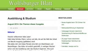 """Gastautorenbeitrag in der """"Berufswelt"""" des Wolfsburger Blatts."""