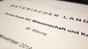 Die Steigerung der Studienerfolgsquote an bayrischen Hochschulen war Thema der Anhörung im Ausschuss für Wissenschaft und Kultur des Bayrischen Landtages.