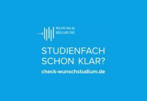 Ein leichter Zugang für Studieninteressierte zu den besten Online-Tests: check-wunschstudium.de. Foto: Bildung & Begabung.